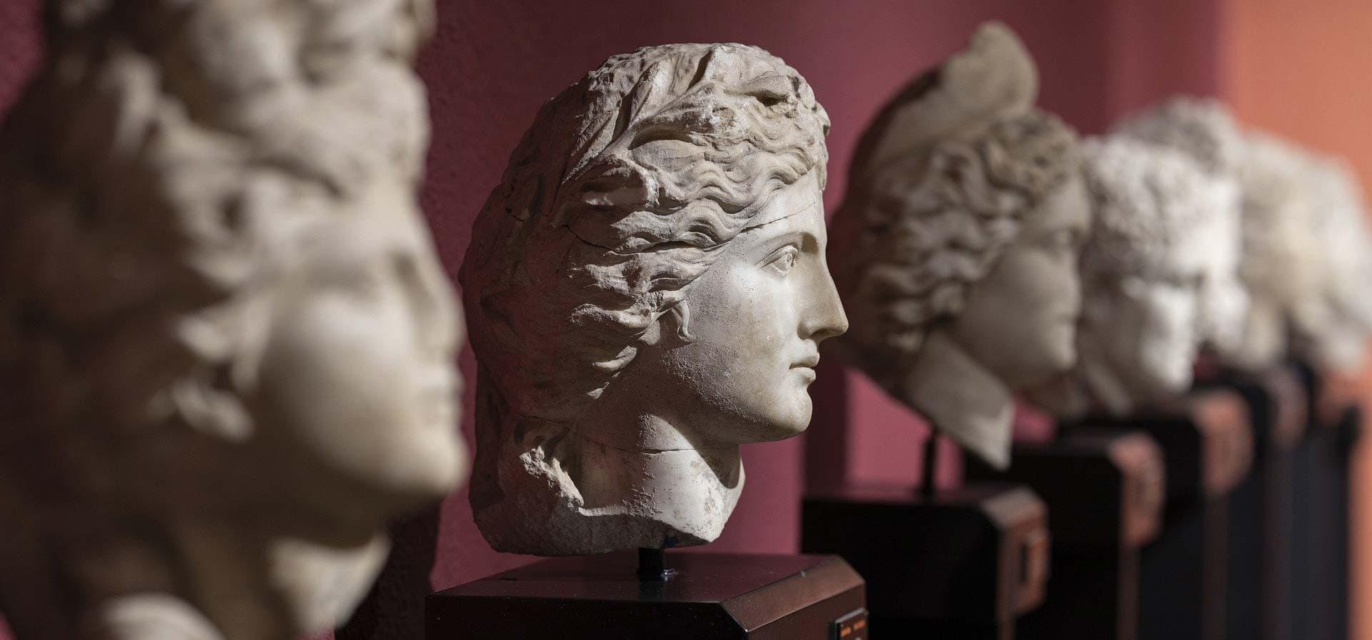 Busti romani a rappresentare la crescita professionale
