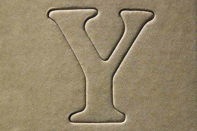 La lettera Y come icona della parola Yes